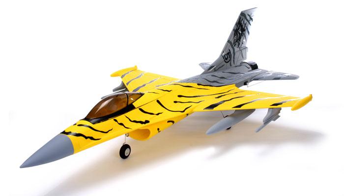 sn hobbies fms f 16 tiger 70mm ducted fan jet plane brushless powered plug n play. Black Bedroom Furniture Sets. Home Design Ideas