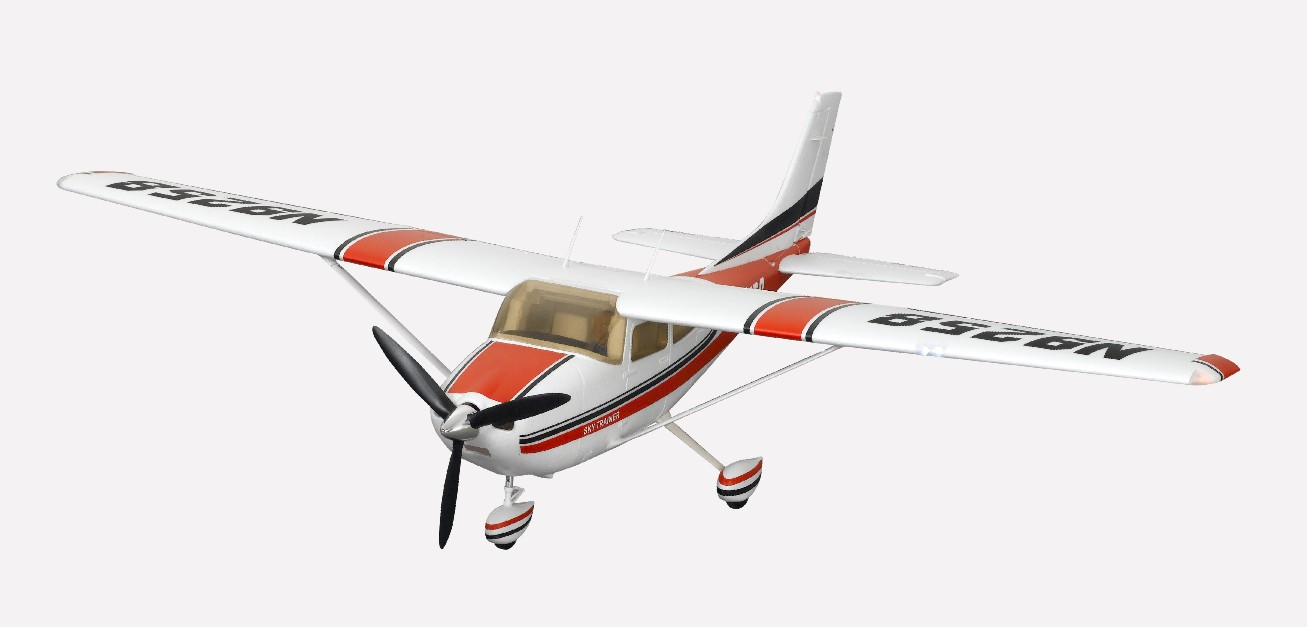 FMS 1400mm Cessna 182 Brushless Powered RC Airplane w/ Flaps & Lights, 2.4 GHz RTF (New Verison) - SN Hobbies