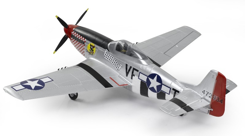 SN Hobbies - FMS 1440mm P-51 (Silver) Brushless Powered RC Warbird