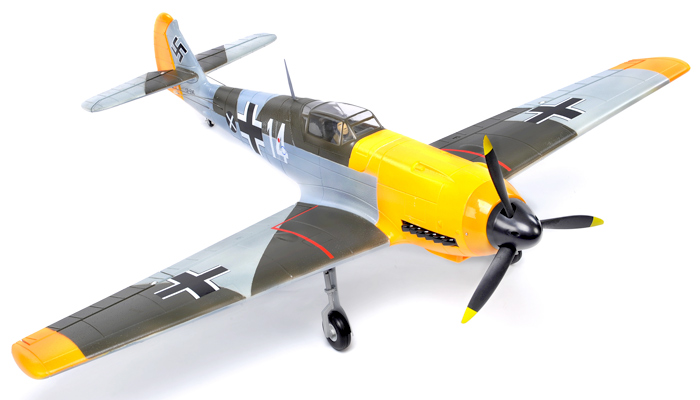 FMS 1400mm BF-109 Messerchmitt Brushless Powered RC Warbird Receiver Ready w/ Electric Retracts (Battery Included) - SNHE