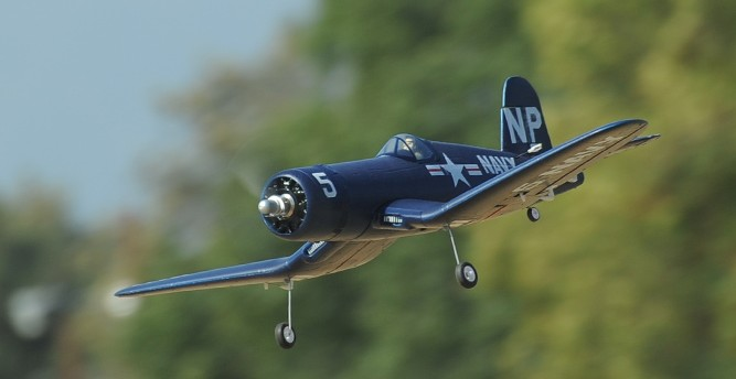 FMS 800mm F4U Corsair (Blue) Brushless Powered RC Warbird Plug-N-Play (New Version) - SNHE