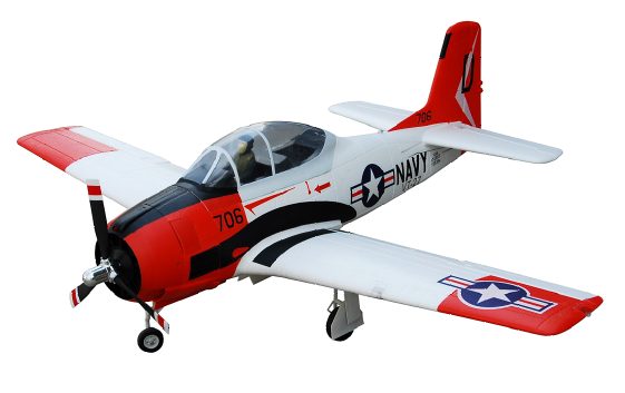 FMS 800mm T-28D Trojan(RED) Brushless Powered RC Warbird Plug-N-Play - SN Hobbies