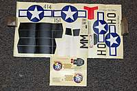 Big P51 Stickers(YELLOW) - SN Hobbies