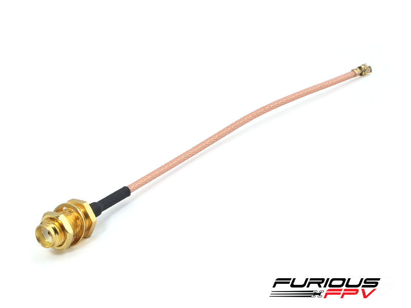 FURIOUSFPV UFL TO SMA FEMALE CABLE (FOR INNOVA VTX+OSD) - SNHE