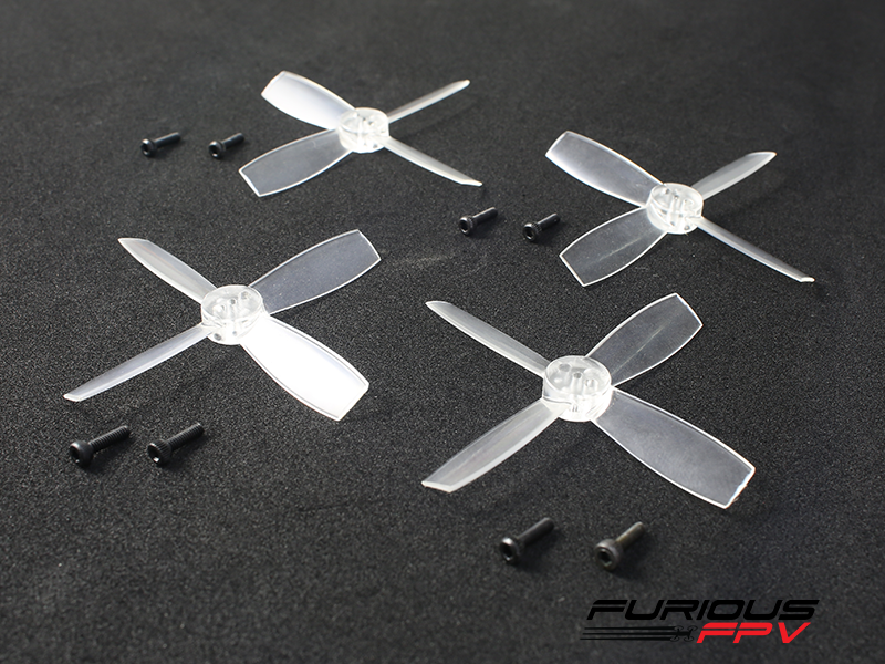 FURIOUSFPV HIGH PERFORMANCE 2435-4 PROPELLERS (TRANSPARENT 2CW & 2CCW) - SNHE