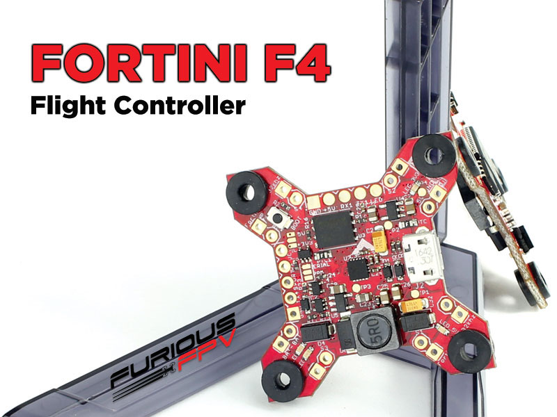 Furious FPV FORTINI F4 32Khz 16MB Black Box Flight Controller <font color=red><b>DISCONTINUED</b></font> - SNHE