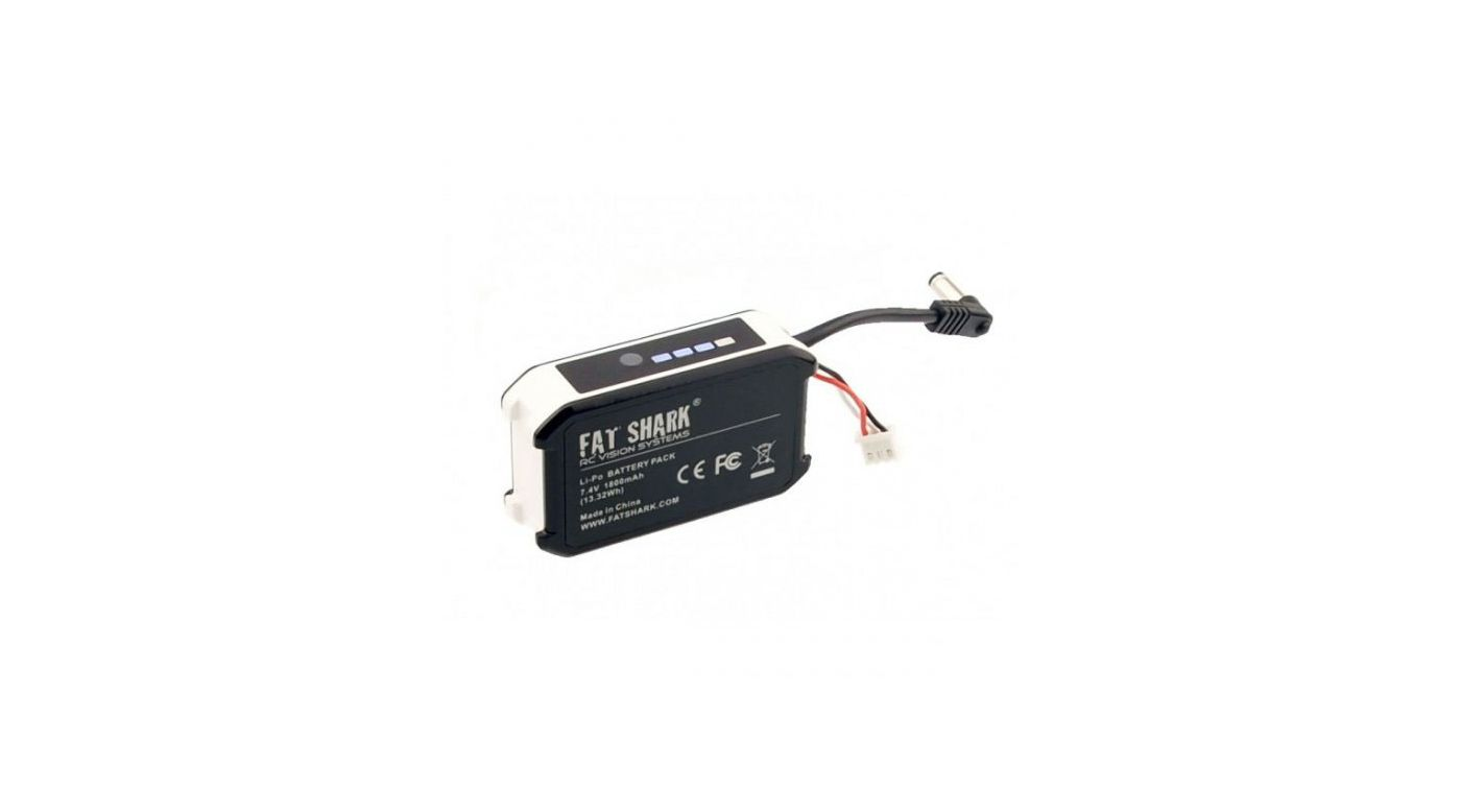 Fat Shark 7.4V 1800mAh Battery Pack with LED Indicator - SNHE