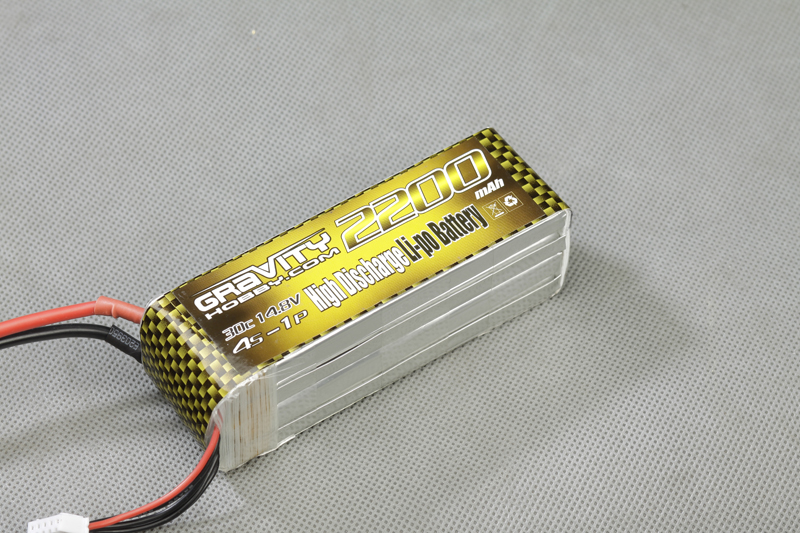 Gravity 4S 14.8v 2200mah 30C Lipo - SN Hobbies