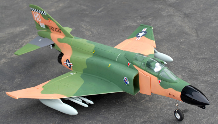 FMS F4 (Camo) 70mm Ducted Fan Fighter Jet Plane Brushless Powered - Plug-N-Play - SN Hobbies