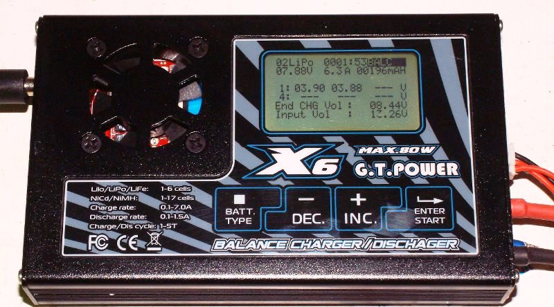 GT Power X6 LiPo Pro Charger - SNHE