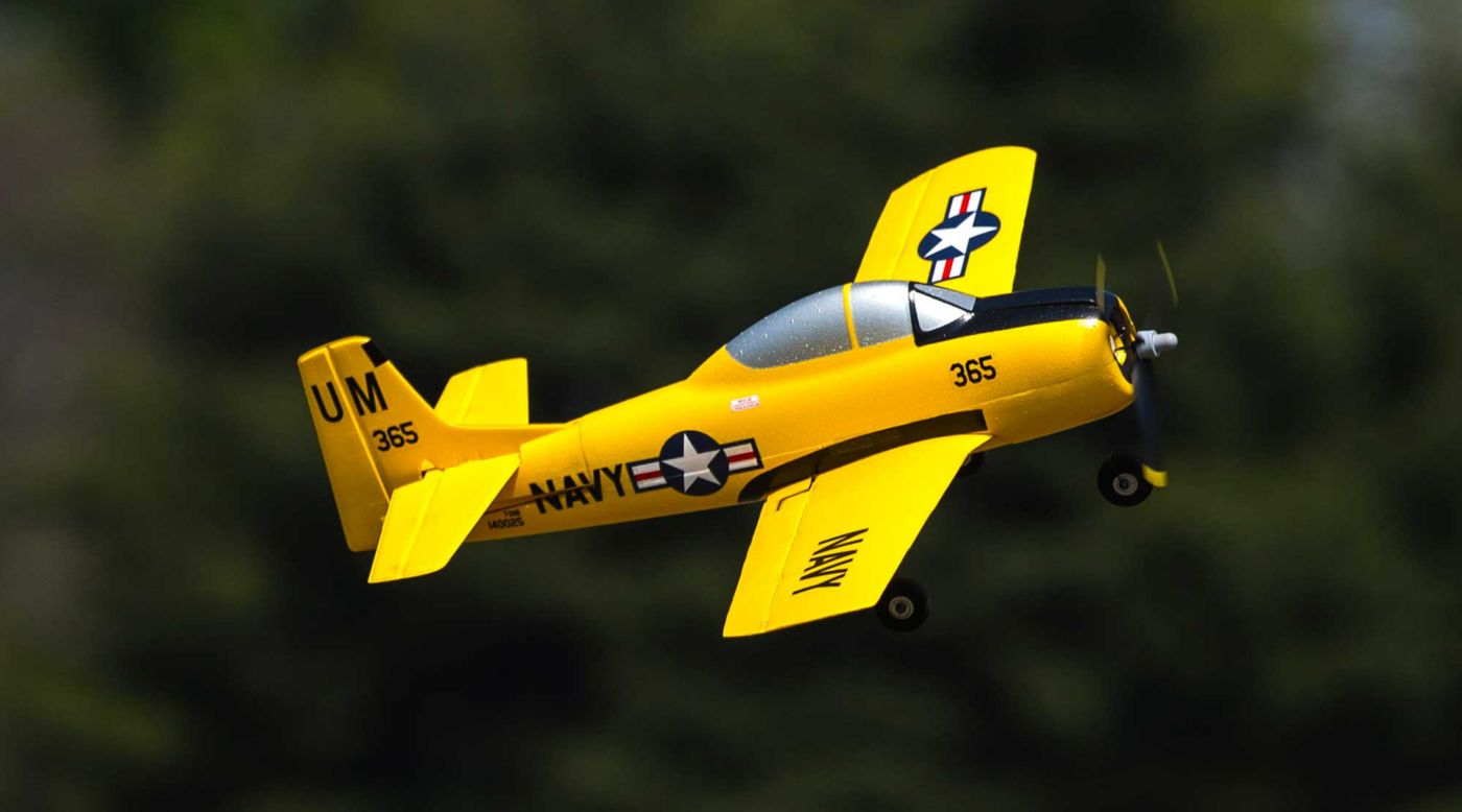 HobbyZone T-28 Trojan S BNF Basic with SAFE - SNHE