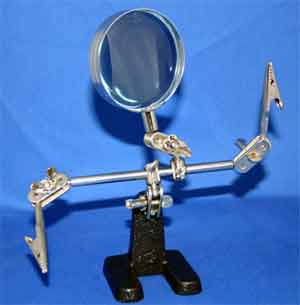 HELPING HAND W/MAGNIFIER FOR SOLDERING, GLUING, ETC - SNHE