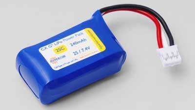 HYPERION G3 CX 0240 MAH 2S 7.4V 25C/45C 2-CELL LIPOLY W/UMX CONNECTOR - SN Hobbies