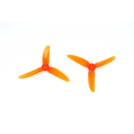 HQ Durable PC Prop <b>4X4.3X3V1S:</b> <font color=&quot;orange&quot;><b>L.Orange</b></font> (4CW+4CCW) - SNHE