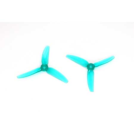 HQ Durable PC Prop <b>4X4.3X3V1S:</b> <font color=&quot;Turquoise&quot;><b>L.Blue</b></font> (4CW+4CCW) - SNHE
