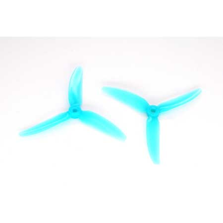 HQ Durable PC Prop <b>5X4.3X3V1S:</b> <font color=&quot;turquoise&quot;><b>Lite Blue</b></font> (4CW+4CCW) - SNHE