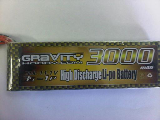 Gravity 3S 11.1V 3000MAH 30C - SN Hobbies