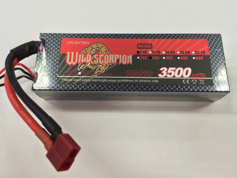 Wild Scorpion 2S 7.4V 3500mah 30C Li-Po Battery - SNHE