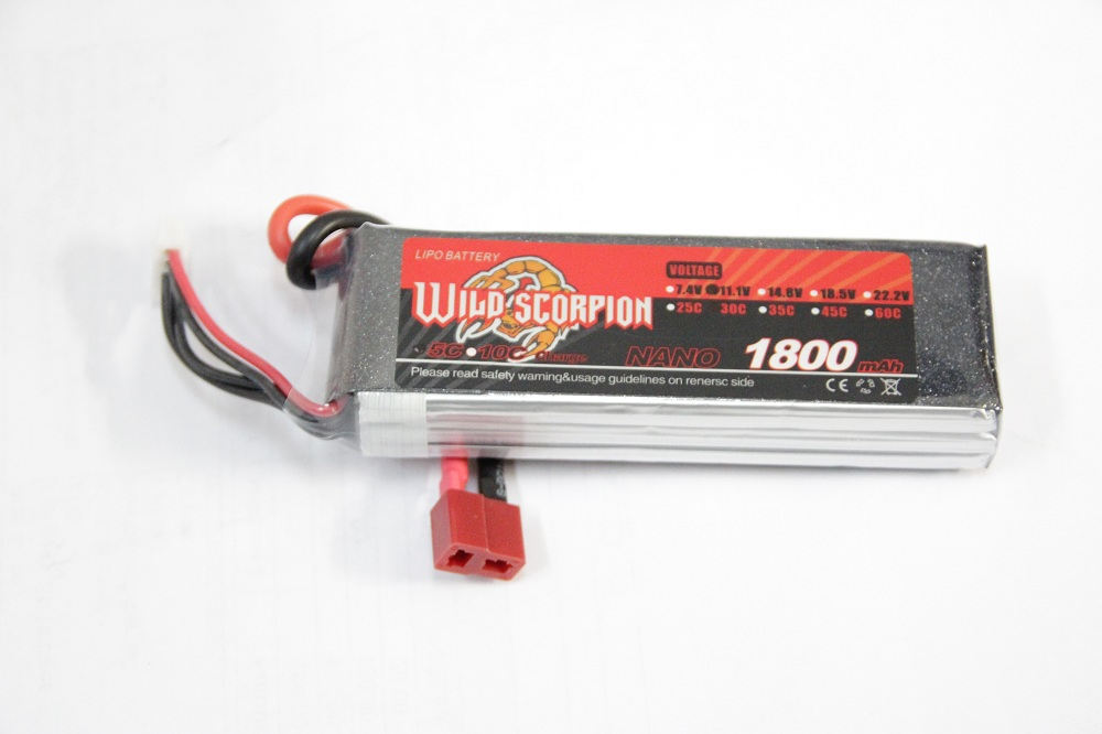 Wild Scorpion 3S 11.1V 1800mAh 30C Li-Po Nano Battery - SN Hobbies