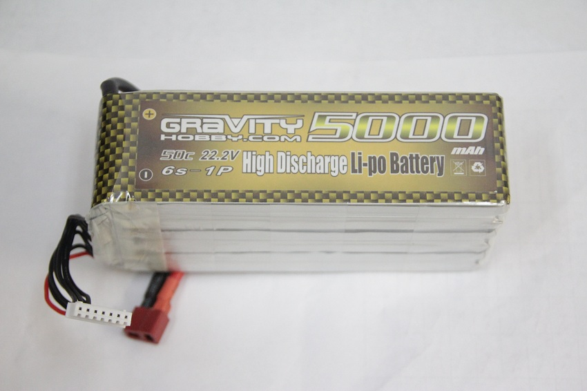 Gravity 6S 22.2v 5000mah 50C Lipo - SN Hobbies