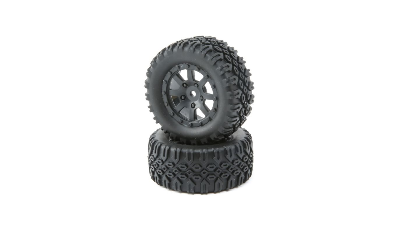 Losi Front and Rear Tires Mounted (2): Mini 8IGHT-DB - SNHE