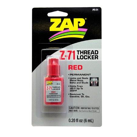 ZAP Z-71 Red Thread Lock, .20 oz - SNHE