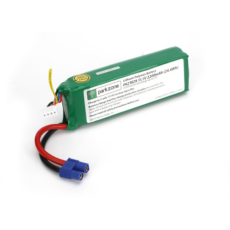 11.1V 2200mAh 3S 25C LiPo Battery - SN Hobbies