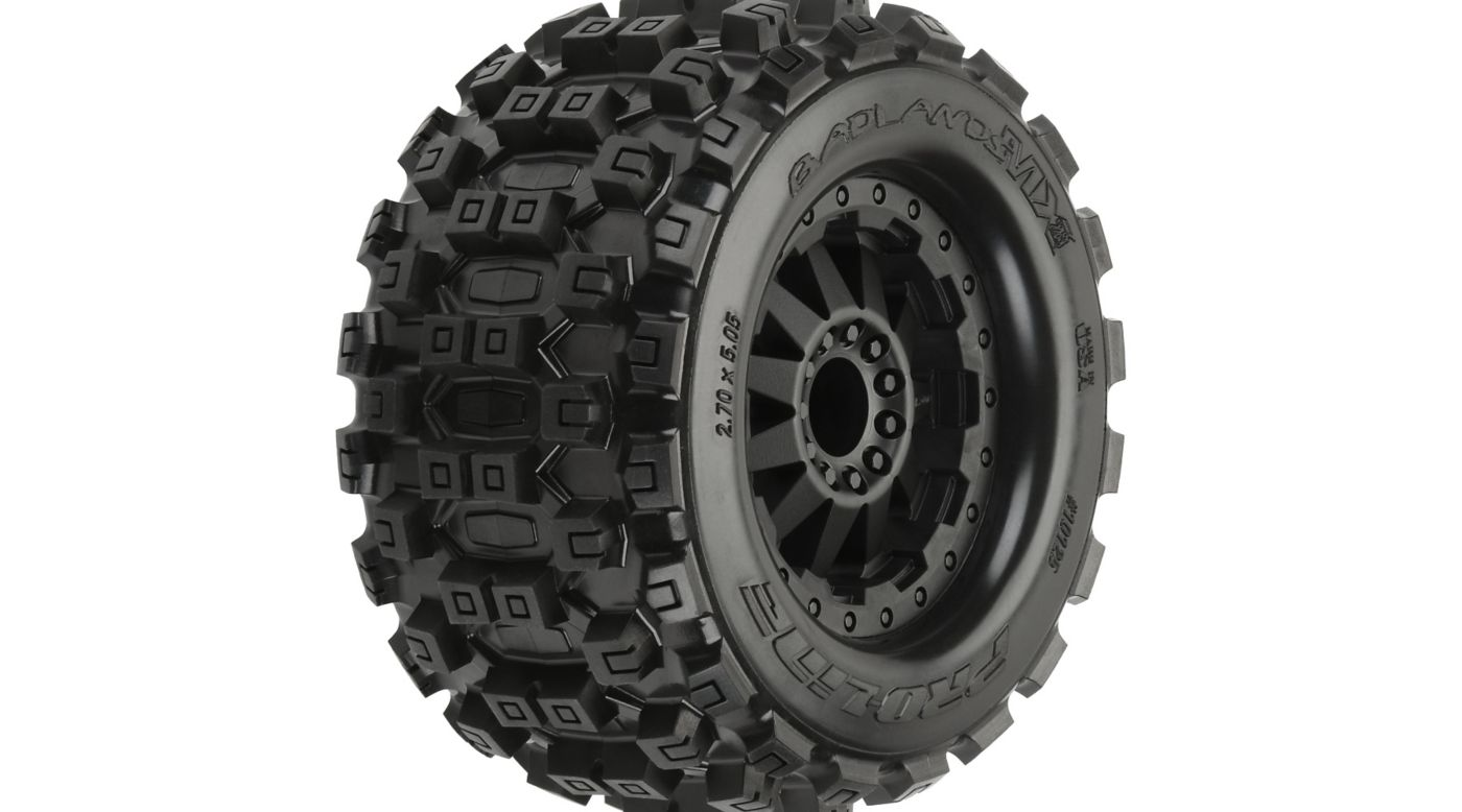 Proline Racing Badlands MX28 2.8 Mnt F-11 Blk Whl(2): Fr EST, ERU - SNHE