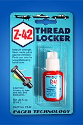 ZAP Z-42 BLUE THREADLOCKER - .2 OZ. - SN Hobbies