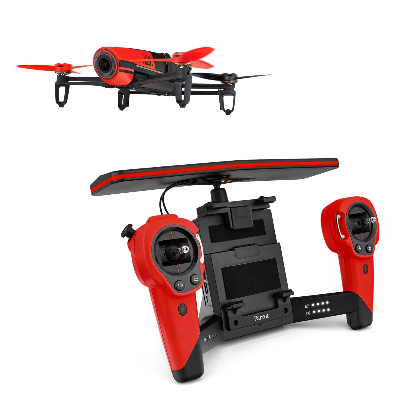 Parrot Bebop Drone and SkyController Bundle, Red - SNHE