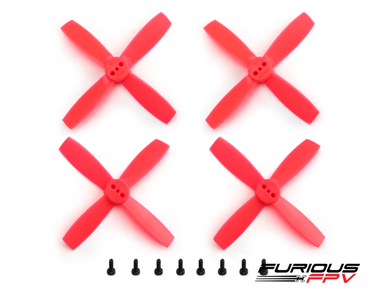 FURIOUSFPV HIGH PERFORMANCE 2435-4 PROPELLERS (NEON RED 2CW & 2CCW) - SNHE
