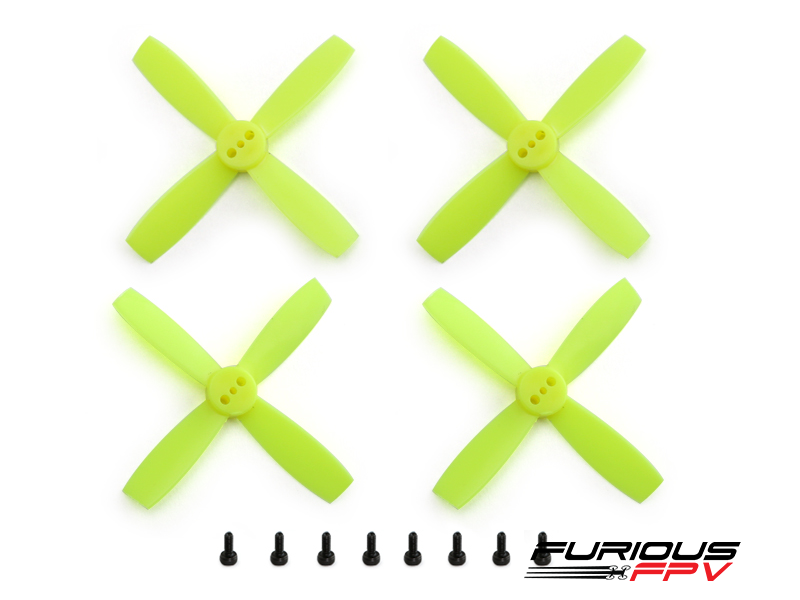 FURIOUSFPV HIGH PERFORMANCE 2435-4 PROPELLERS (NEON YELLOW 2CW & 2CCW) - SNHE