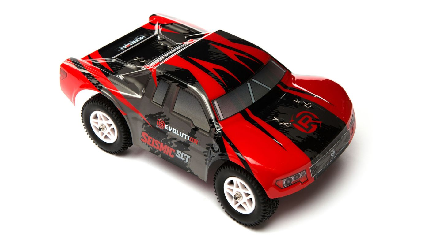 Revolution 1/18 Seismic 4WD Short Course Truck RTR Red/Black - SNHE