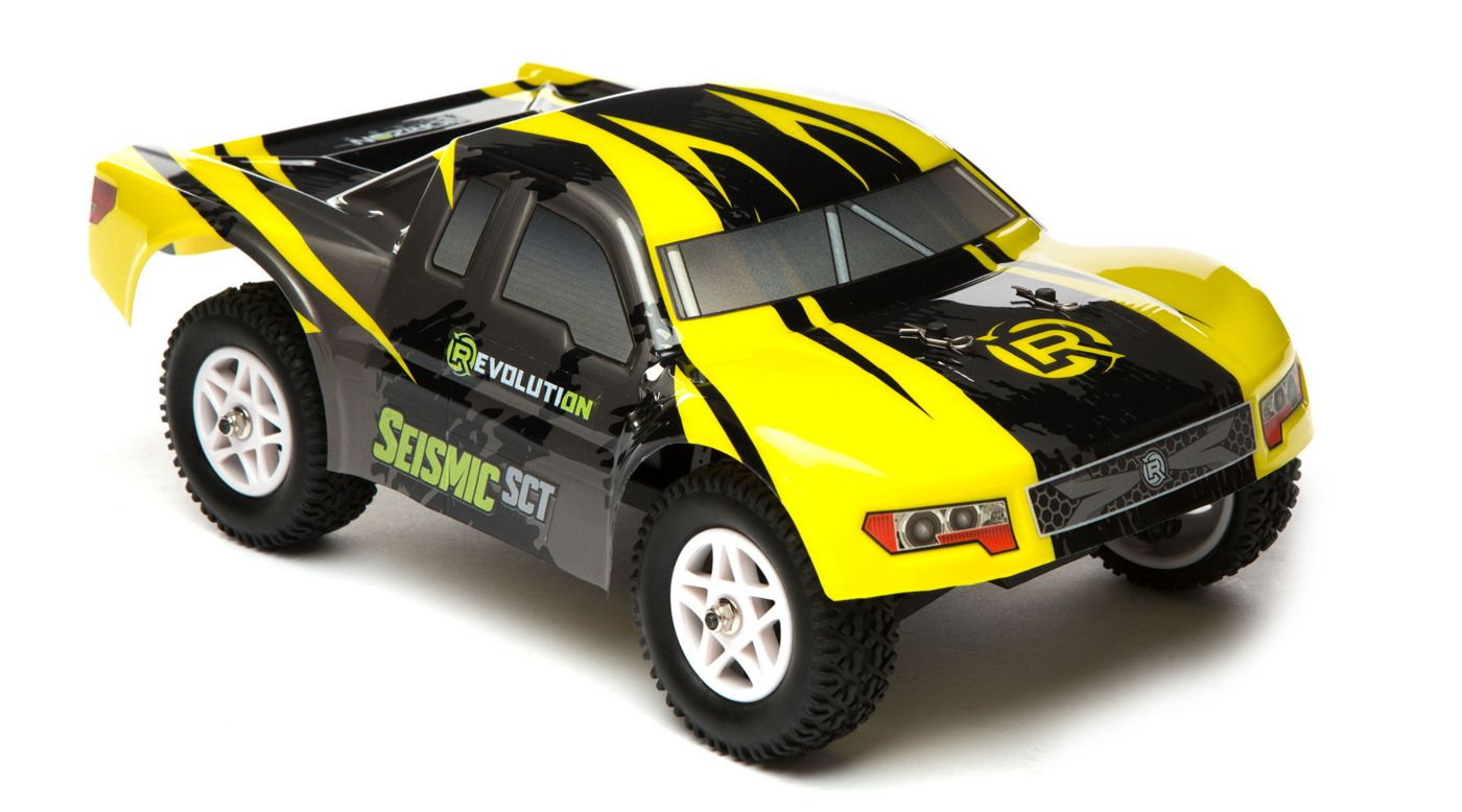 Revolution 1/18 Seismic 4WD Short Course Truck RTR Yellow/Black - SNHE