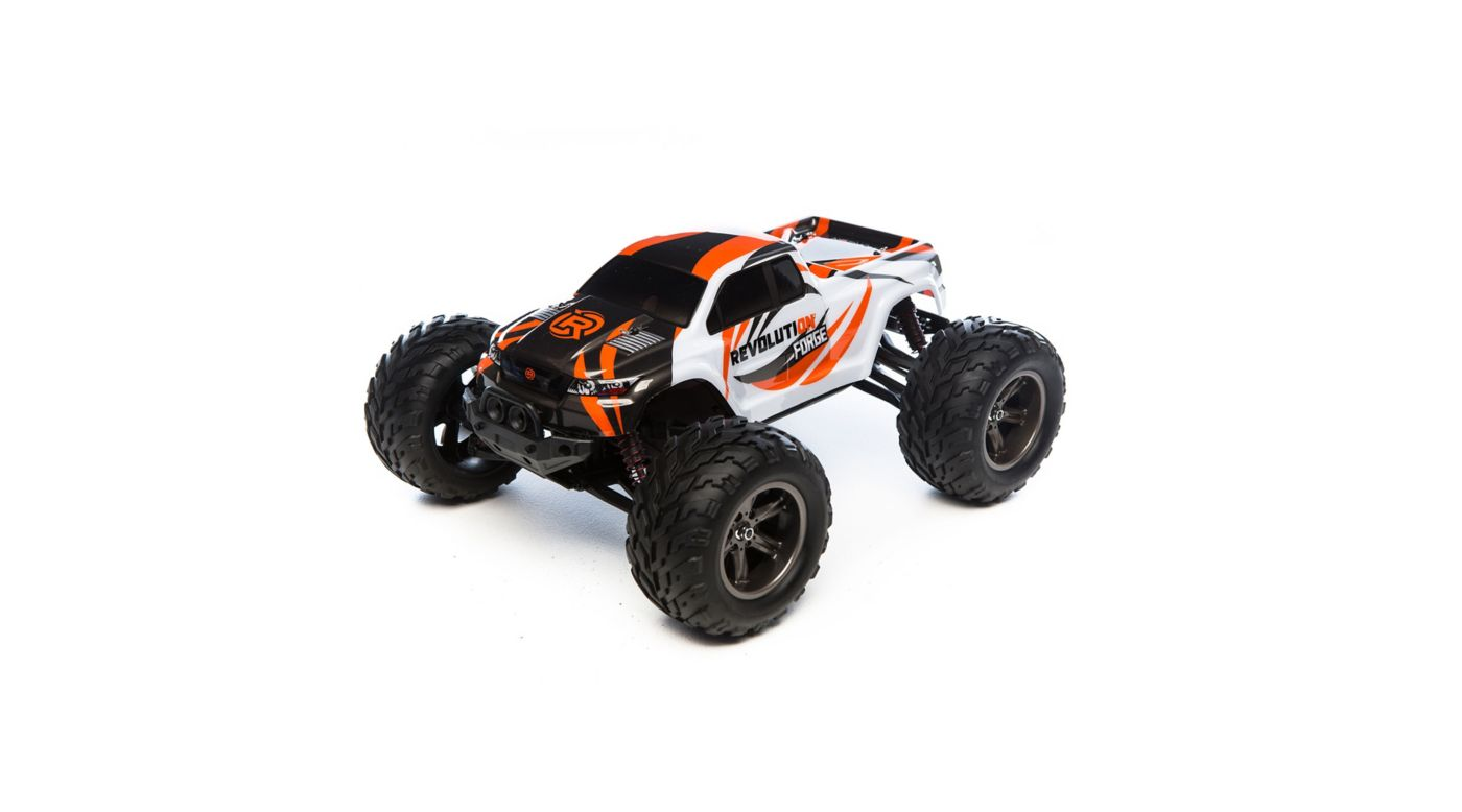 Revolution 1/12 Forge 2WD Monster Truck RTR, Grey/Orange - SNHE