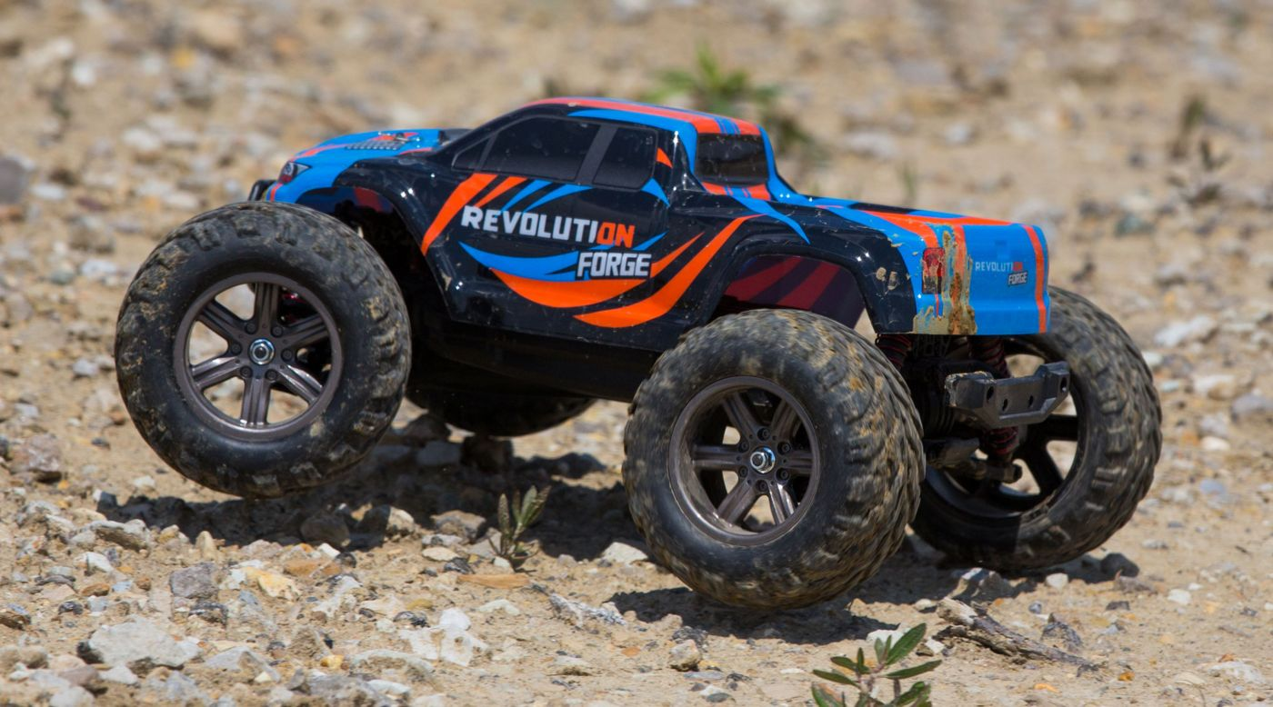 Revolution 1/12 Forge 2WD Monster Truck RTR, Blue/Orange - SNHE