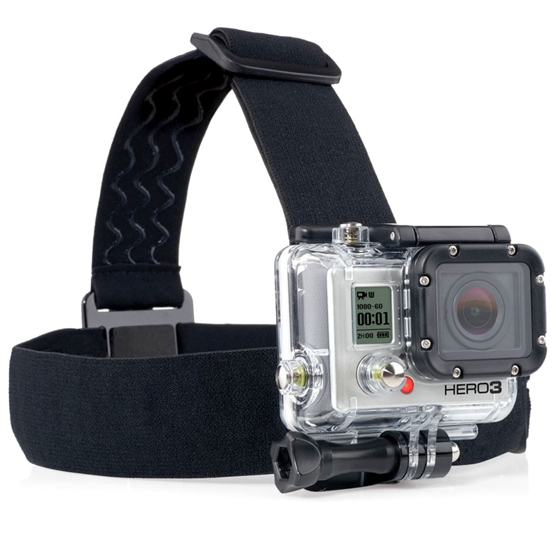 ST-23 Elastic Adjustable Head Strap Mount Belt for GoPro HD Hero / 1 / 2 / 3 Camera - SNHE