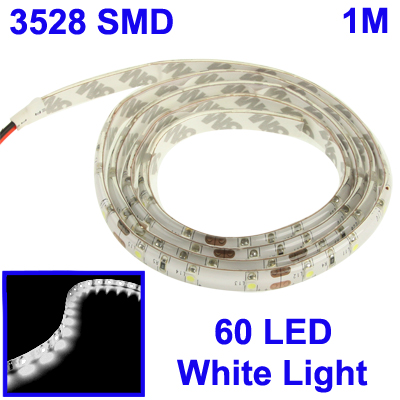 Epoxy Waterproof 3528-SMD White Light LED Strips - 1 METER - SNHE