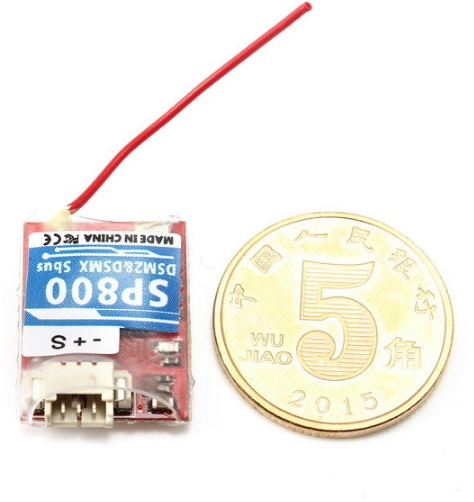 Super Mini 0.8g SP800 2.4G 8CH SBUS/CPPM Receiver Compatible with DSM2 DSMX Transmitter Module - SNHE