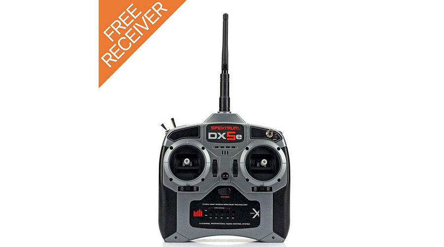Spektrum DX5e DSMX 5-Channel Transmitter with AR610 Receiver and FREE AR400 Receiver - SNHE