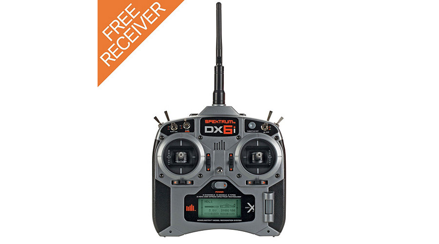 Spektrum DX6i 6-Channel DSMX� Transmitter with AR610 Receiver and FREE extra AR610 - SNHE