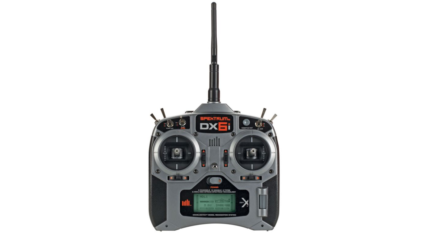Spektrum DX6i 6-Channel DSMX® Transmitter with AR610 Receiver - SNHE