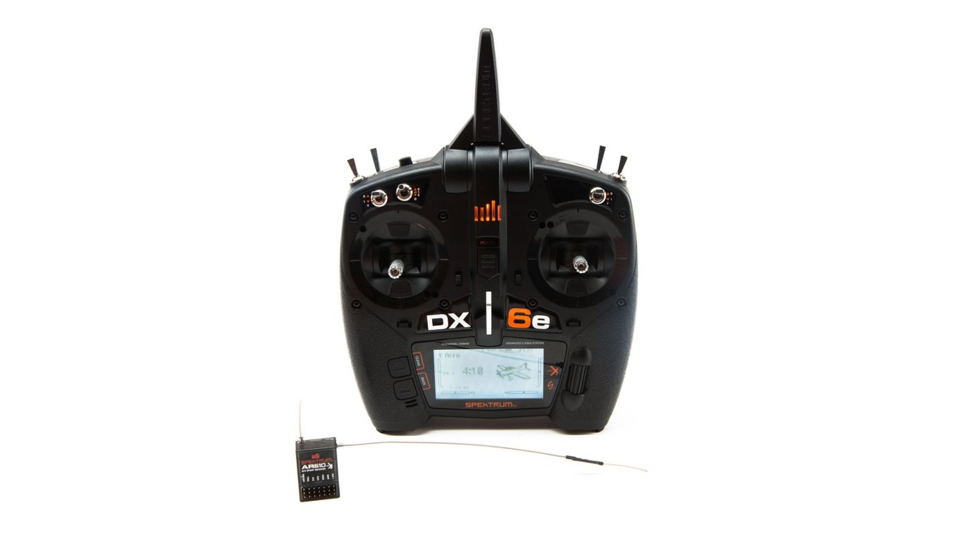 Spektrum DX6e 6-Channel DSMX Transmitter with AR610 Receiver - SNHE