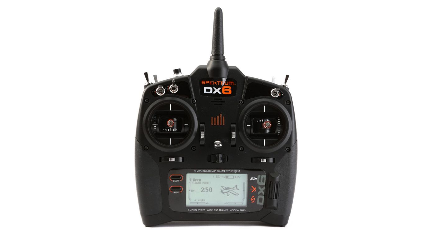 Spektrum DX6 6-Channel DSMX® Transmitter, Mode 2 with AR610 Receiver - SNHE
