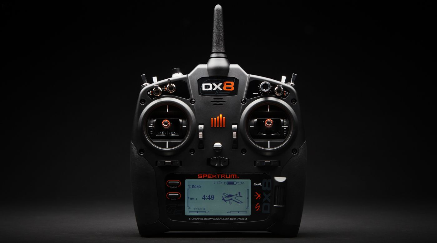 Spektrum DX8 8-Channel DSMX Transmitter Gen 2 with AR8010T, Mode 2 - SNHE