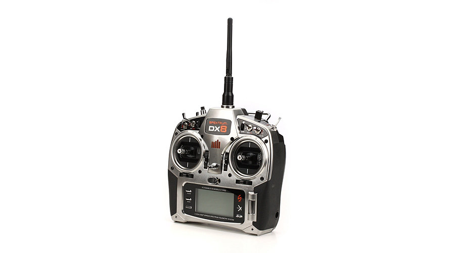 Spektrum DX8 DSMX 8CH Transmitter with AR8000: No Servos - SN Hobbies