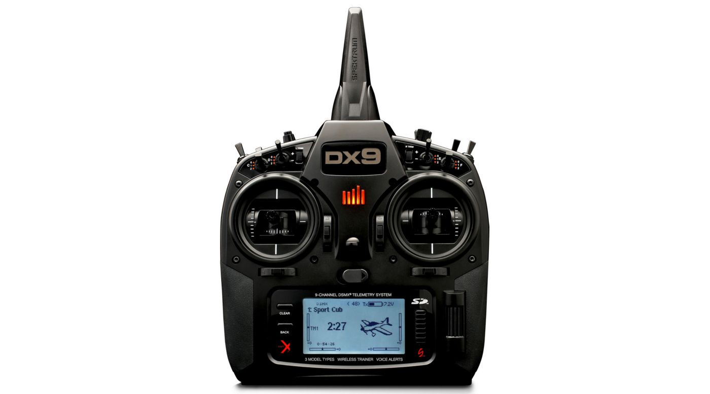Spektrum DX9 Black Edition 9-Channel DSMX� Transmitter with AR9020 Receiver - SNHE
