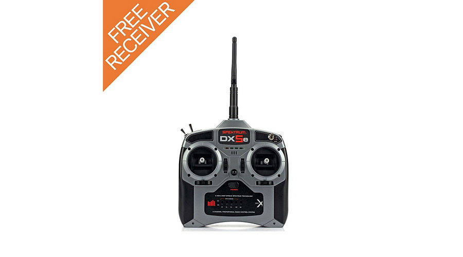 Spektrum DX5e DSMX 5-Channel Transmitter with FREE AR400 Receiver - SNHE
