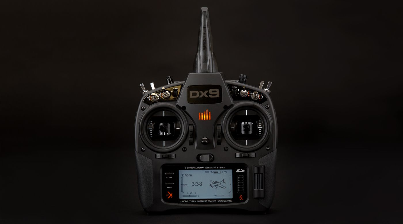 Spektrum DX9 Black 9-Channel DSMX Transmitter Only, Mode 2 - SNHE