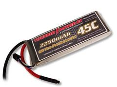 Thunder Power 2250mAh 2S 7.4V G6 Pro Performance 45C LiPo - SNHE